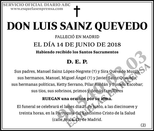 Luis Sainz Quevedo